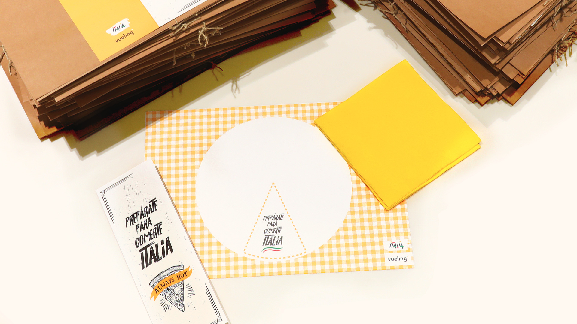 Vueling We Love Pizza - Campaña