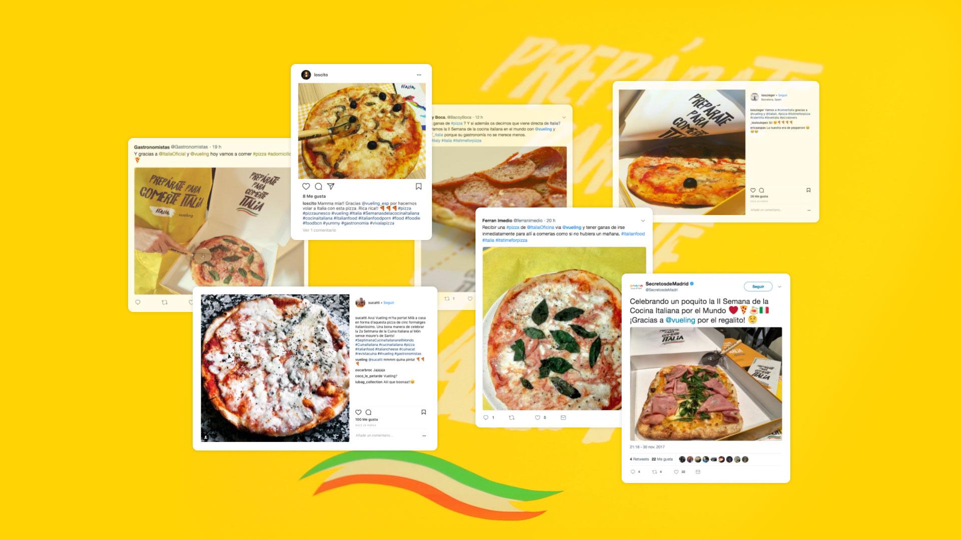 Vueling We Love Pizza RRSS