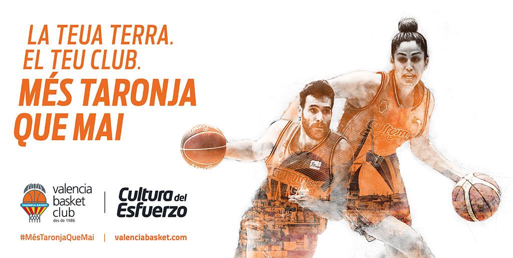 La nueva campaña de abonos del Valencia Basket,  #MésTaronjaQueMai