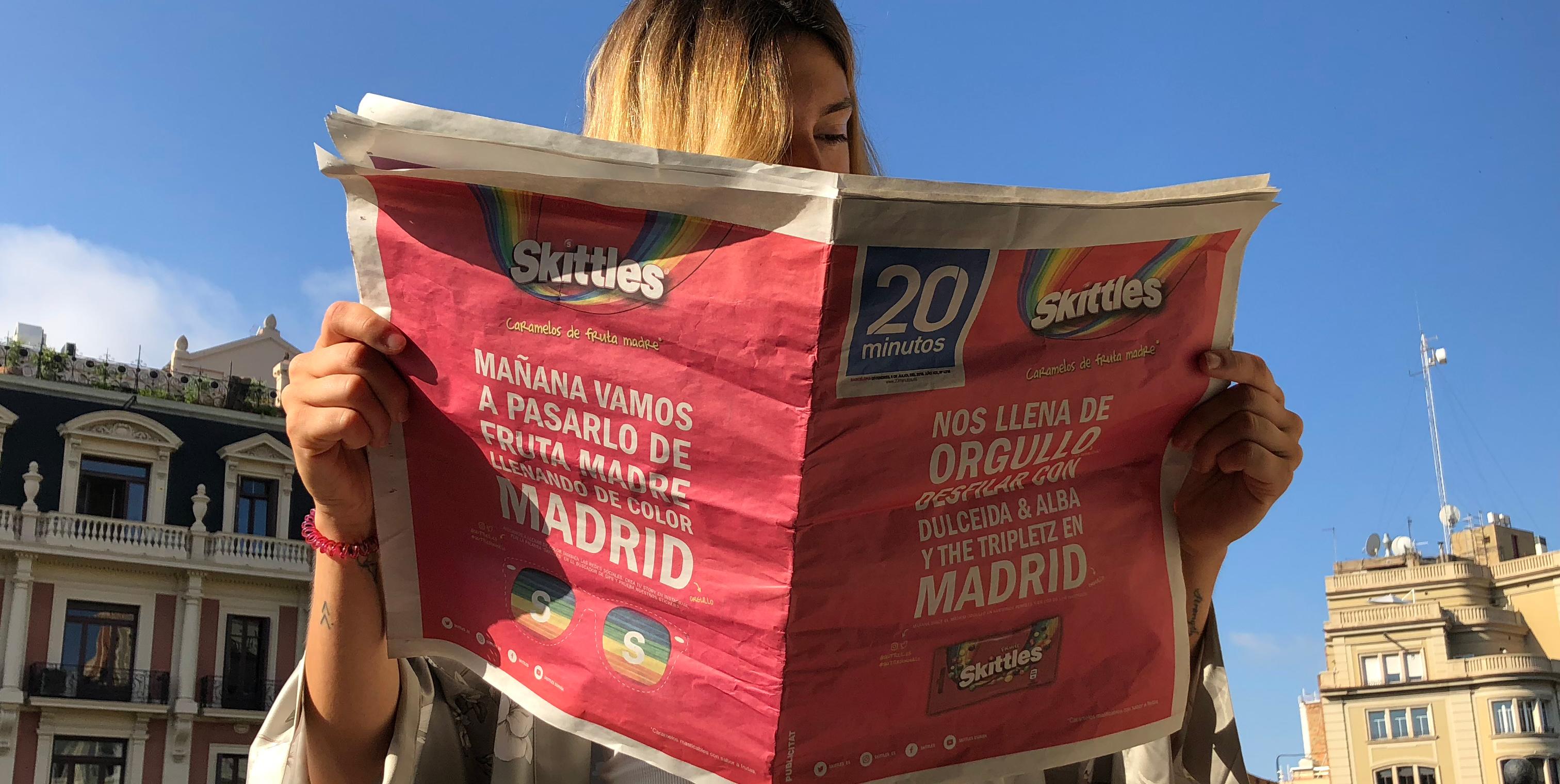 CELEBRAMOS EL MADRID ORGULLO CON SKITTLES Y DULCEIDA